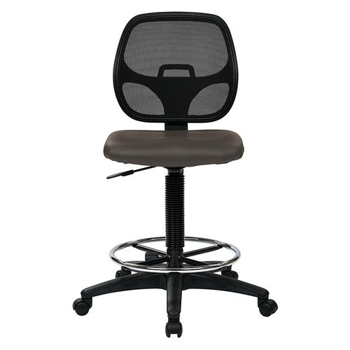 "Deluxe Custom Dillon Fabric Drafting Chair With 18"" Diameter Foot Ring"