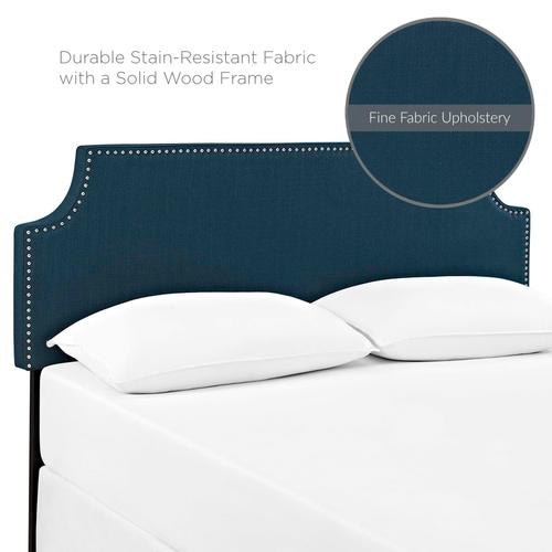 Modway - Laura King Upholstered Fabric Headboard in Azure