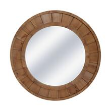 "Wood Frame 28"" Wall Mirror, Brown Wb"