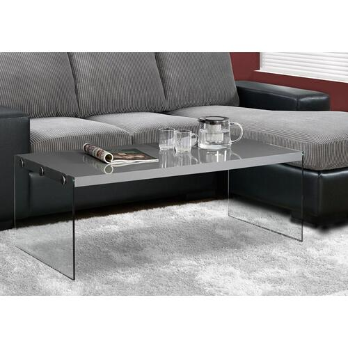 Gallery - COFFEE TABLE - GLOSSY GREY WITH TEMPERED GLASS