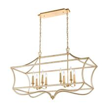 La Rochelle 8-Light Linear Chandelier in Parisian Gold Leaf