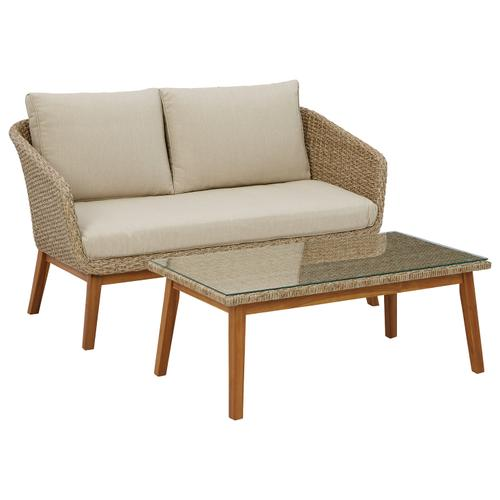 Crystal Cave Outdoor Loveseat With Table (set of 2)