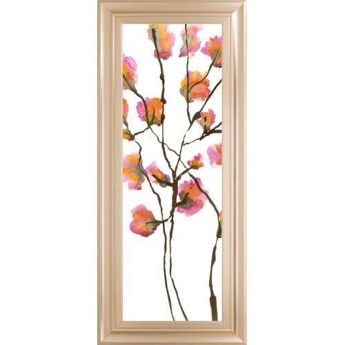 """Classy Art - """"Inky Blossoms I"""" By Deborah Velasquez Framed Print Wall Art"""