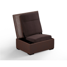 JumpSeat Ottoman, Hazelnut Cover / Root Beer Seat