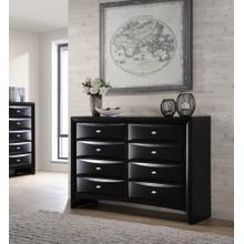 Blemerey Fully Assembled Wood Dresser, Black Finish