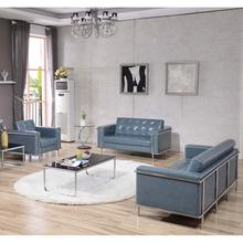 See Details - HERCULES Lesley Series Reception Set in Gray LeatherSoft