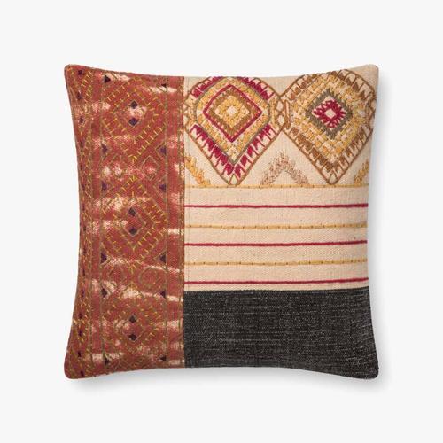 P0679 Rust / Grey Pillow