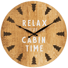 """Relax You're On Cabin Time"" Wall Clock"