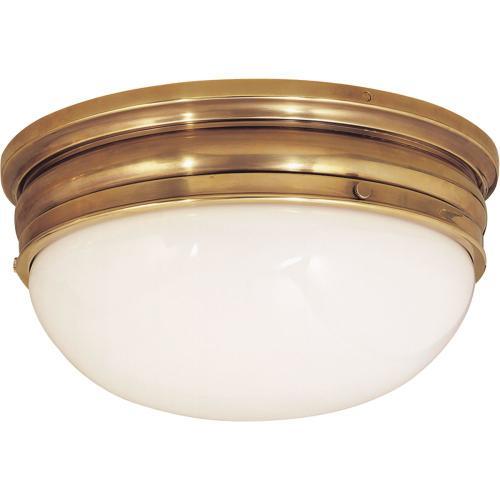 Visual Comfort CHC4203AB E. F. Chapman Crown 2 Light 16 inch Antique-Burnished Brass Flush Mount Ceiling Light