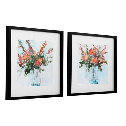Uttermost - Fresh Flowers Framed Prints, S/2