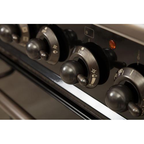 Nostalgie 48 Inch Dual Fuel Liquid Propane Freestanding Range in Matte Graphite with Bronze Trim