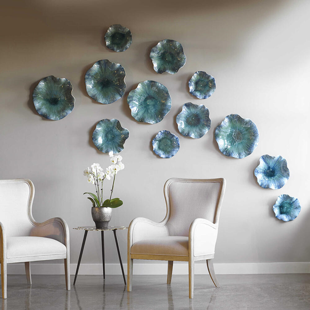 See Details - Abella Ceramic Wall Decor, S/3