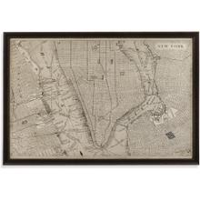 View Product - Vintage Map of New York Wall Art