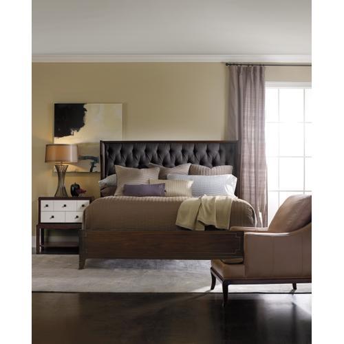 Palisade Upholstered Shelter King Bed - Carbon Fabric