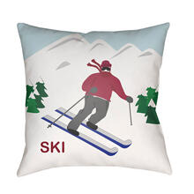 "Ski I SKI-001 18""H x 18""W"