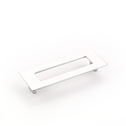 Finestrino, Pull, Rectangle, Polished Chrome, 128 mm cc