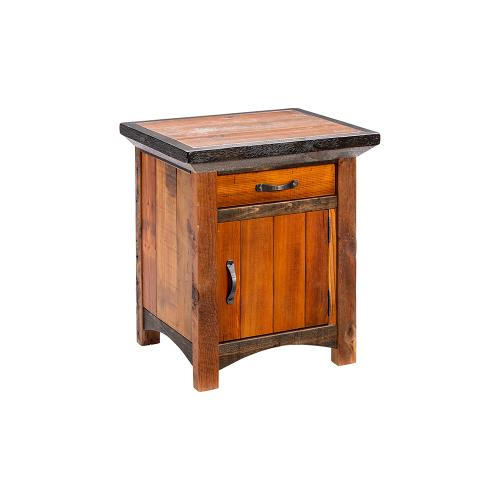 Green Gables Furniture - Mossy Oak Natchez Trace 1 Door 1 Drawer Nightstand Hinged Right