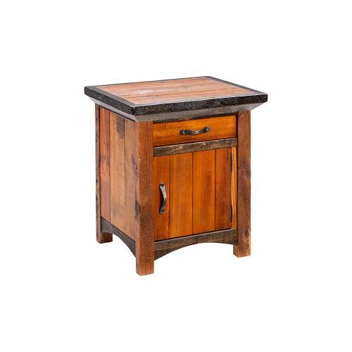 Mossy Oak Natchez Trace 1 Door 1 Drawer Nightstand Hinged Right