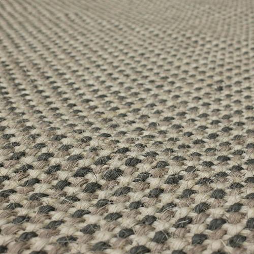 Karastan - Basketweave Sisal Grey Tri Color 10'x14' / Leather Border