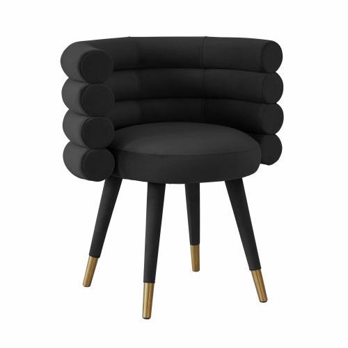 Tov Furniture - Betty Black Velvet Dining Chair