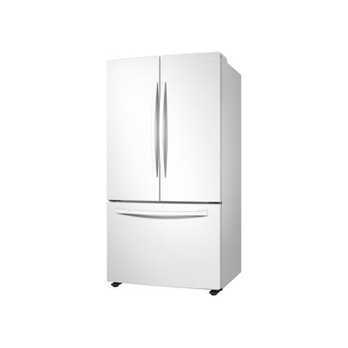 28 cu. ft. Large Capacity 3-Door French Door Refrigerator with Internal Water Dispenser in White