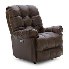 BROSMER Leather Power Rocker Recliner