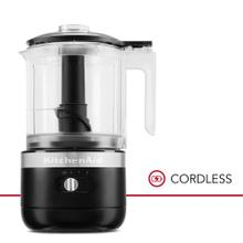 5 Cup Cordless Food Chopper - Black Matte