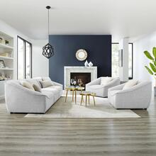 Comprise 5-Piece Living Room Set in Light Gray
