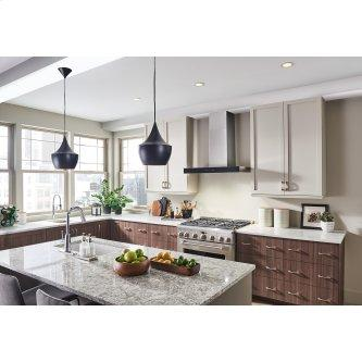 30-inch 650 Max Blower CFM Stainless Steel Chimney Range Hood with PURLED™ Light System and Black Glass (WCB3 Series)