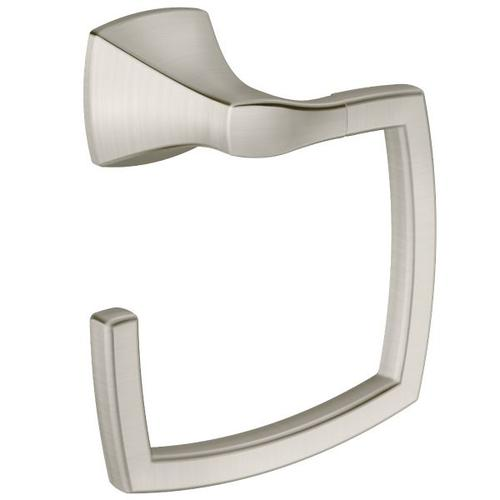 Voss brushed nickel towel ring