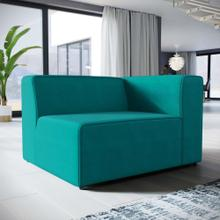 Mingle Fabric Right-Facing Sofa in Teal