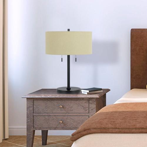 Cal Lighting & Accessories - 60W X 2 Calais Metal Table Lamp