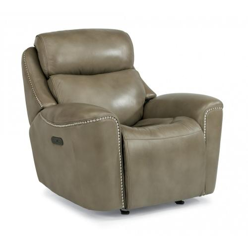Product Image - Mystic Leather Power Gliding Recliner with Power Headrest