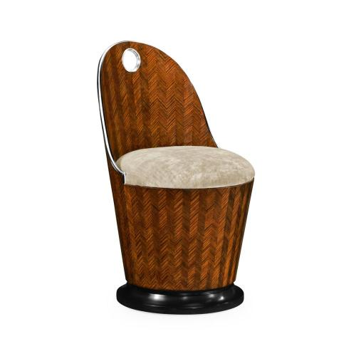 Feather inlay dressing chair