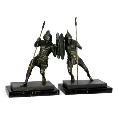 Combatant in dark bronze