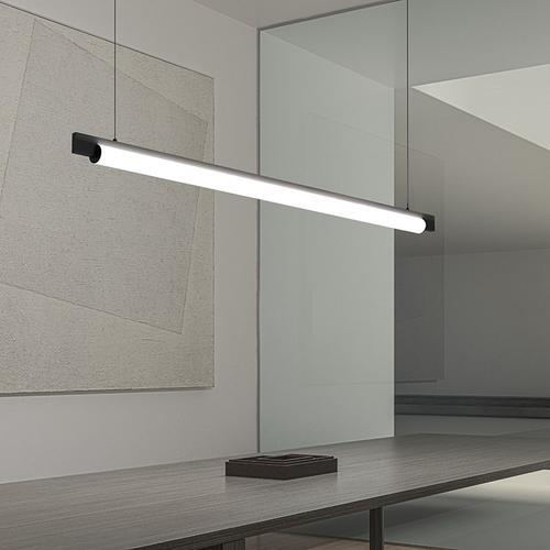 "Sonneman - A Way of Light - Keel LED Pendant [Size=60"", Color/Finish=Bright Satin Aluminum]"