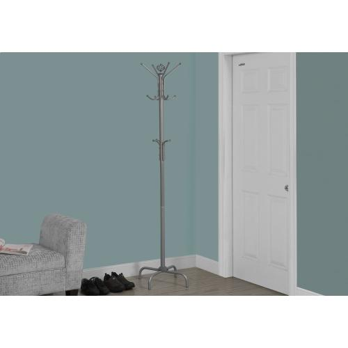 "COAT RACK - 70""H / SILVER METAL"