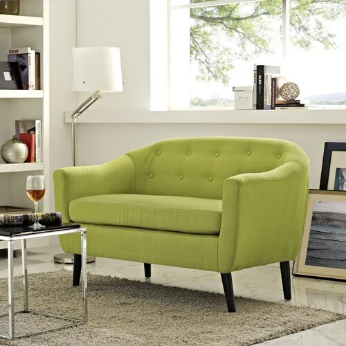 Modway - Wit Upholstered Fabric Loveseat in Wheatgrass