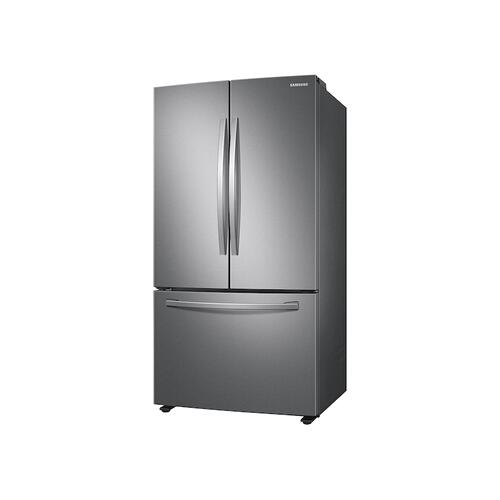 28 cu. ft. Large Capacity 3-Door French Door Refrigerator with Internal Water Dispenser in Stainless Steel