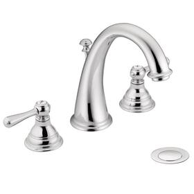 Kingsley chrome two-handle bathroom faucet