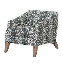 See Details - COOPER ACCENT CHAIR  Wild Child Charcoal Fabric on Hardwood Frame