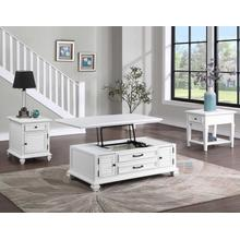 Charlestown 3-Piece Lift-Top Occasional Set (Lift-Top Cocktail & Two End Tables)
