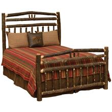 Wagon Wheel Bed - Double - Cognac