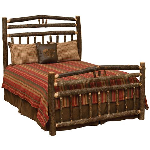 Wagon Wheel Bed - King - Cognac
