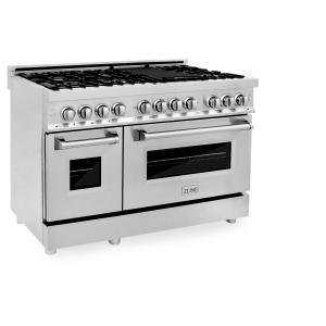 "Zline KitchenZLINE 48"" Professional Stainless Steel 6.0 cu.ft. 7 Gas Burner/Electric Oven Range (RA48)"