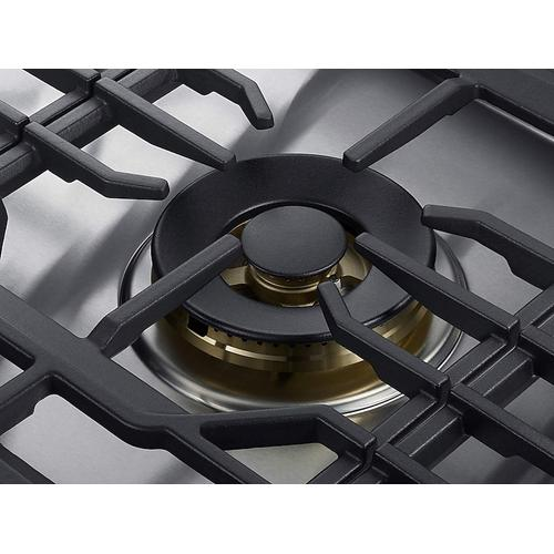 """Samsung - 30"""" Chef Collection Gas Cooktop with 22K BTU Dual Power Burner in Stainless Steel"""