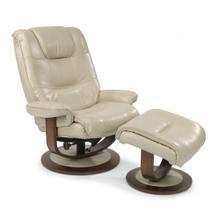 Flexsteel Spencer Leather Reclining Chair & Ottoman