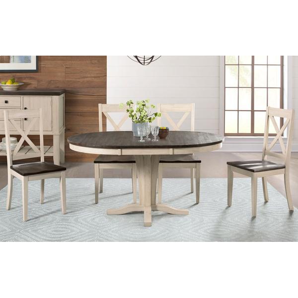 See Details - PEDESTAL DINING TABLE