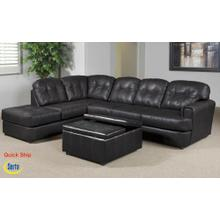 See Details - Eastern Charcoal Bonded Leather Right Facing Sofa