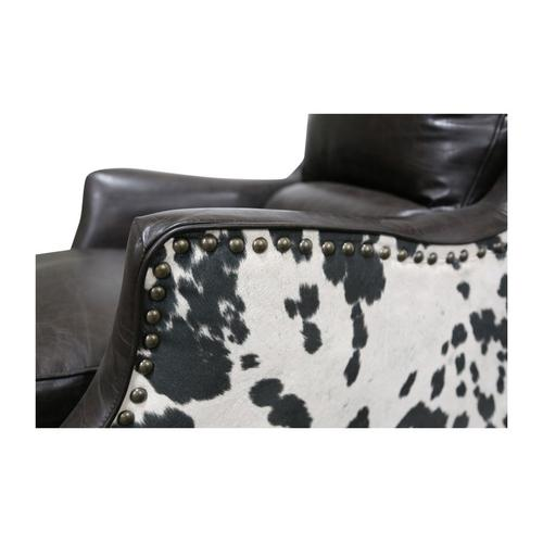 Wrangler Leather & Cow Pattern Accent Chair, AC555